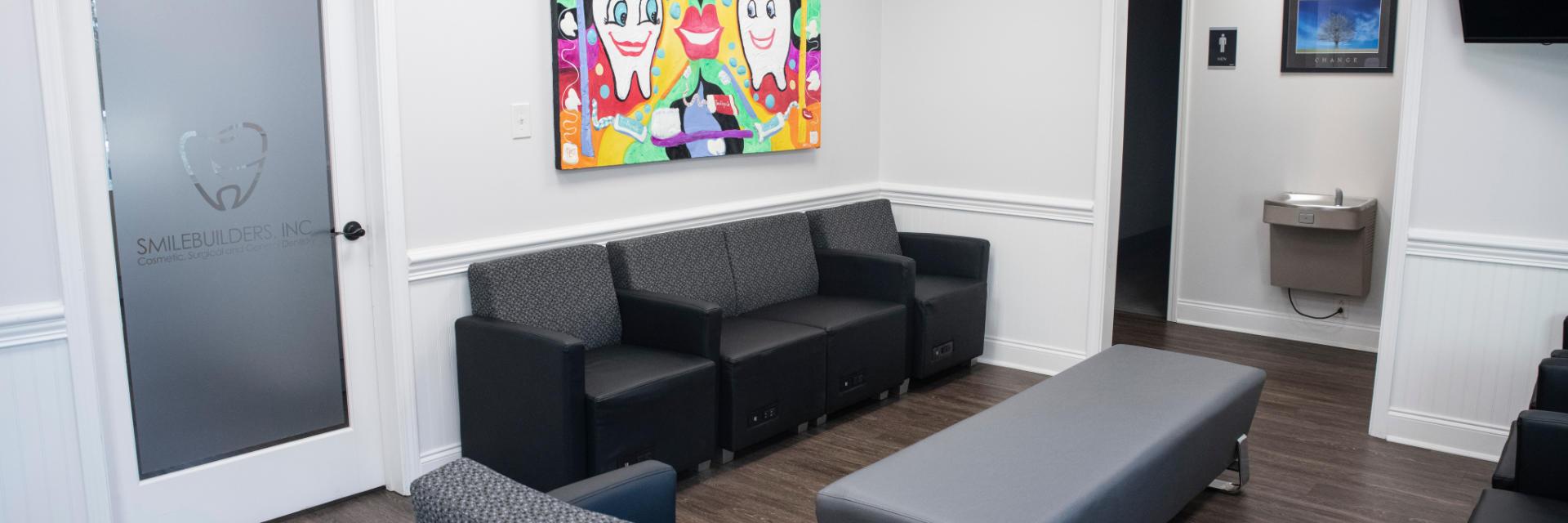 Waiting room at SmileBuilders, Inc.